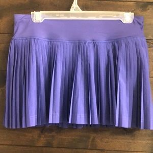 Lululemon pleated purple Tennis Running Skort